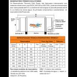 Reservatorio termico tabela